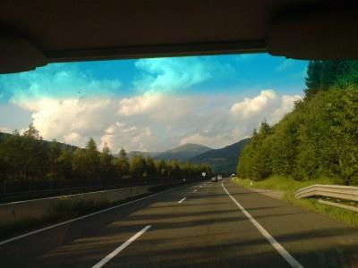 Blick aus Autofenster